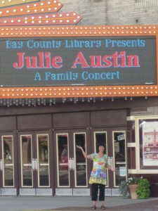 Julie's name in lights! Bay City, Michigan