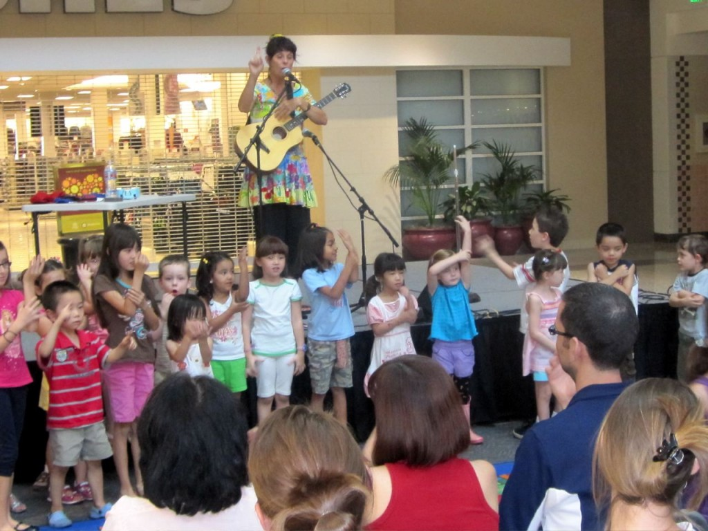 "Children singing & doing sign language during the song ""Love Grows"" Henderson, NV"